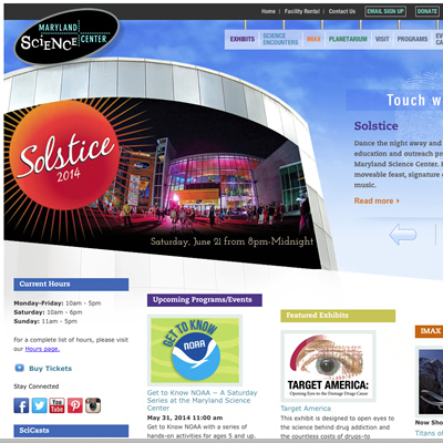 Science Center homepage
