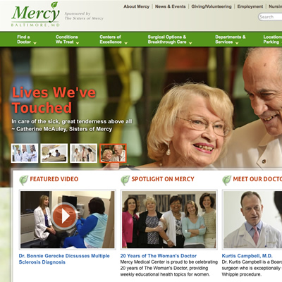 Mercy homepage