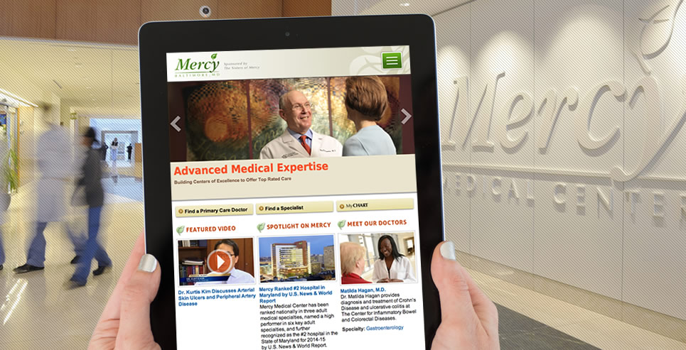 Mercy site on tablet