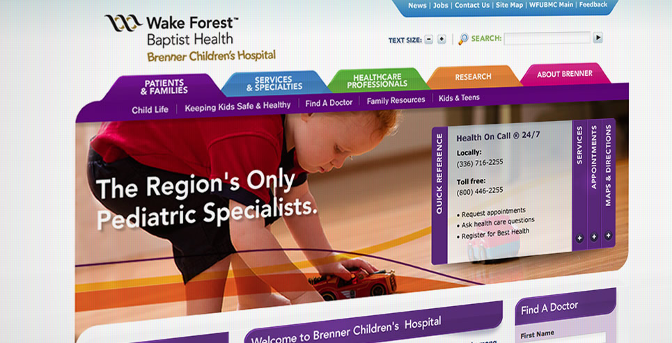 Wake Forest Baptist Health screenshot