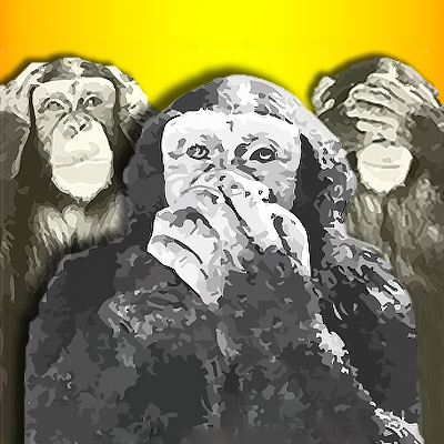 See No Evil, Hear No Evil, Speak No Evil Monkeys