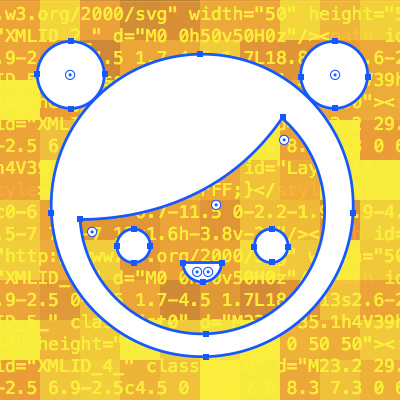 face made of SVGs